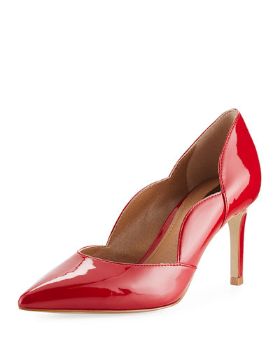 Scalloped Patent Leather Pump