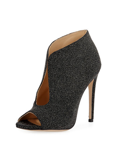 Braden Beaded High Peep-Toe Bootie