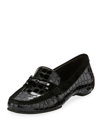 Filo Crocodile-Embossed Patent Loafer