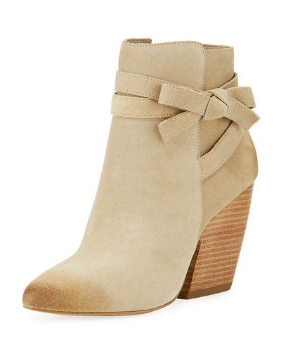 Jax Suede Knotted Ankle Bootie