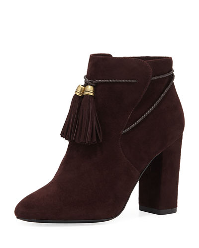 Fredi Suede Bootie with Tassels