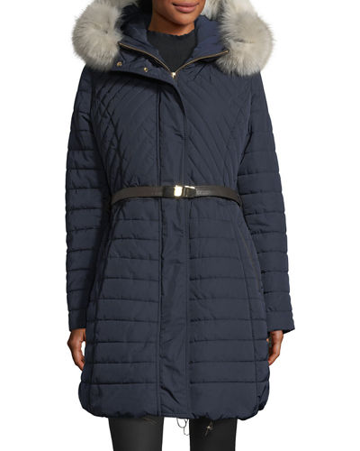 Apres-Ski Fox-Fur-Trim Jacket