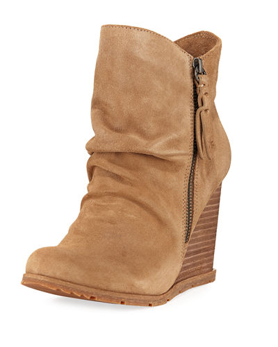 Rania Suede Scrunched Bootie