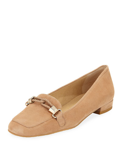 Moctail Suede Square-Toe Loafer