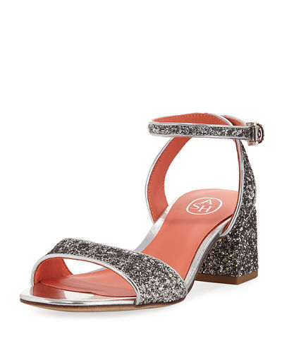 Opium Glitter Metallic City Sandal