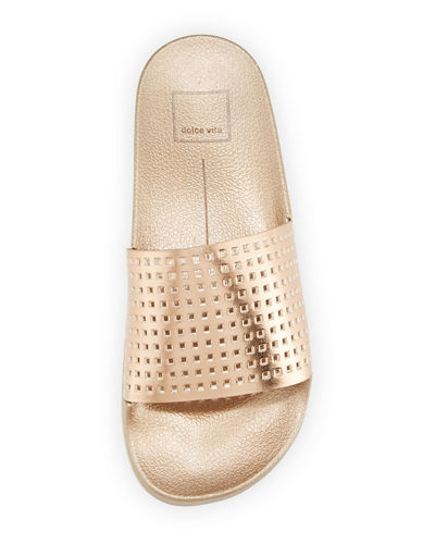 Timmie Perforated Shower Slide Sandal