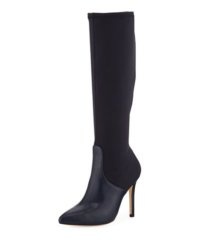 Melissa Mixed-Media Pointy-Toe Boot