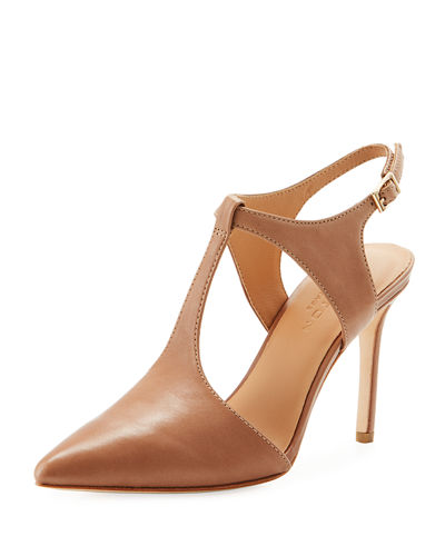 Ruthie Pointy-Toe T-Strap Pump