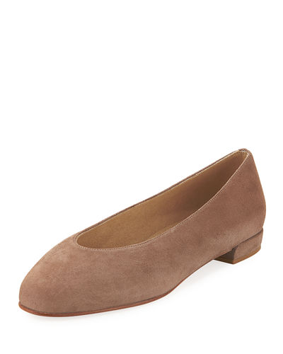 Chicflat Suede Almond-Toe Flat