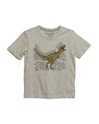Dino Relaxed Short-Sleeve Tee, Size 4-6x