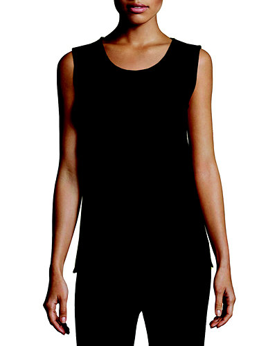 Wool Knit Longer Tank, Plus Size
