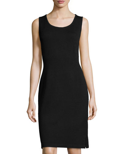Scoop-Neck Knit Tank Dress