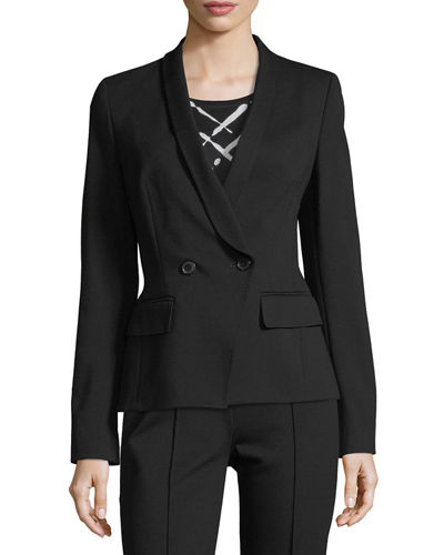Double-Breasted Jersey Blazer