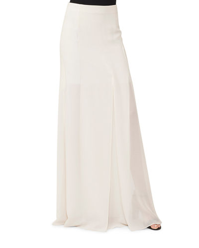 Akris Silk Georgette Maxi Skirt