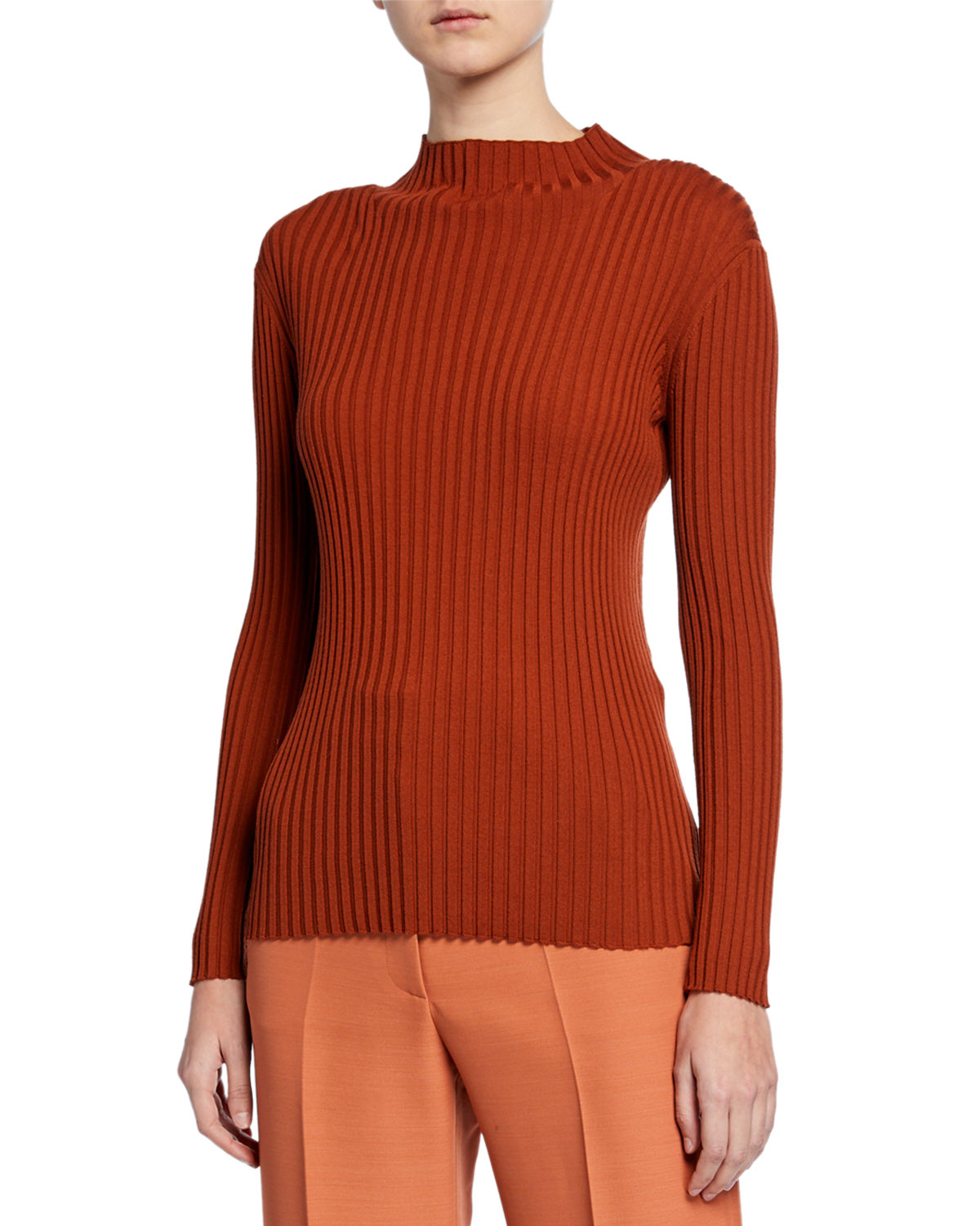 Partow KAIA RIBBED TURTLENECK SWEATER
