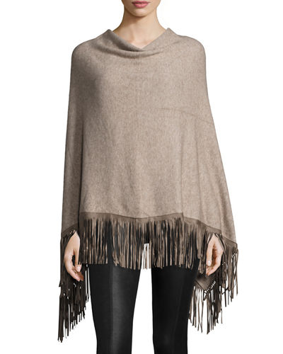 Fringed Poncho Top