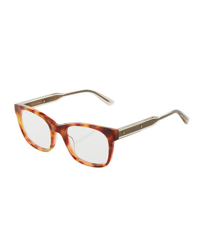 Two-Tone Modified Cat Eye Optical Glasses