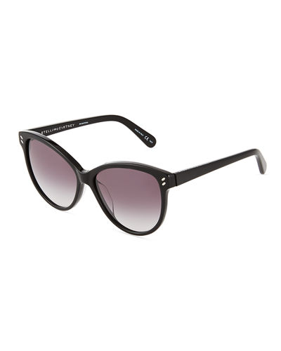 Cat-Eye Havana Plastic Sunglasses