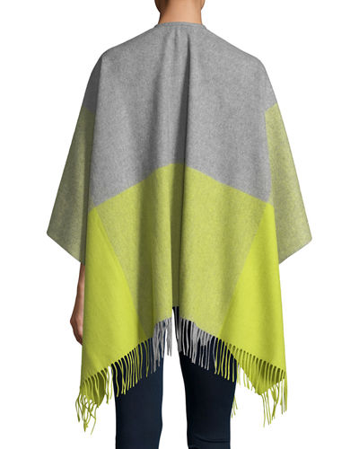 Two-Tone Wool Ruana Shawl