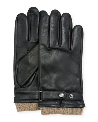 Belted Leather Tech Gloves