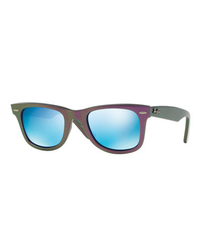 Two-Tone Square Plastic Sunglasses