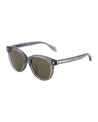 Alexander McQueen Havana Cat-Eye Plastic Sunglasses