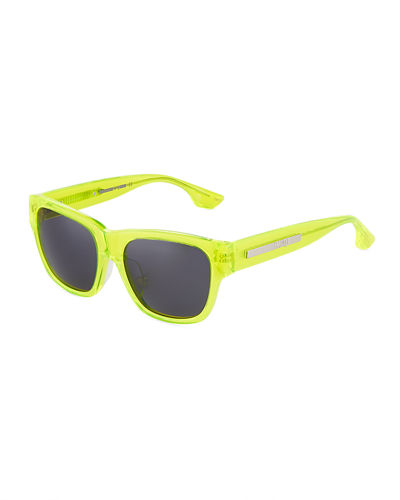 Square Neon Plastic Sunglasses