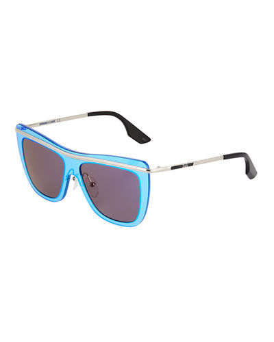 Shield Metal/Plastic Sunglasses