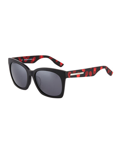Cat Eye Polka-Dot Plastic Sunglasses