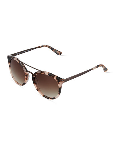 Duo-Tone Retro Round Combo Sunglasses