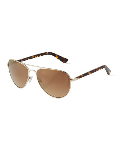Duo-Tone Aviator Combo Sunglasses