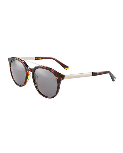 Duo-Tone Modified Retro Aviator Sunglasses
