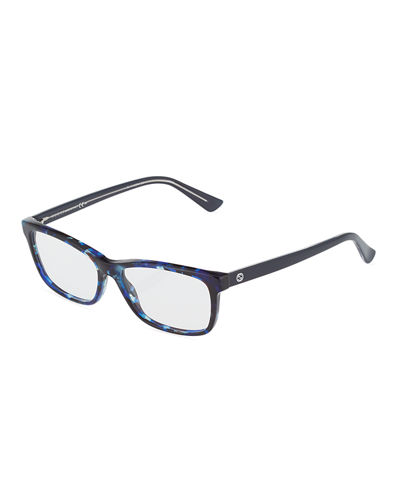 Square Havana Plastic Fashion Glasses