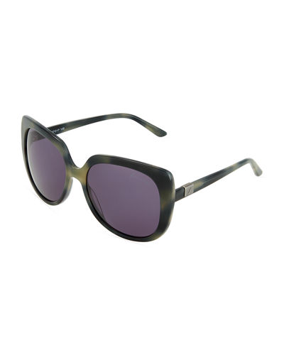 Wide Cat-Eye Sunglasses