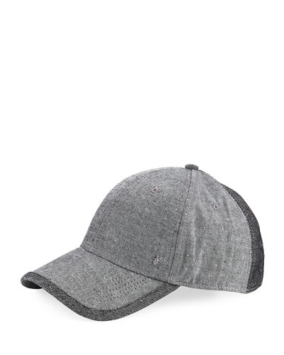 Chambray Curved Baseball Cap