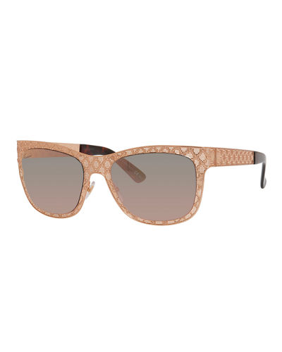 Mirrored GG Texture Sunglasses