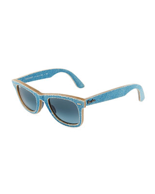 DENIM WAYFARER SUNGLASSES