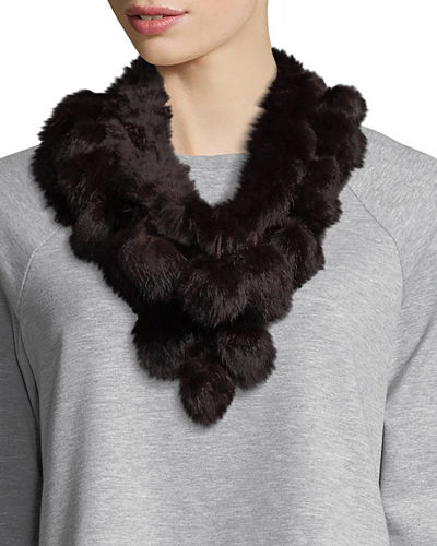 Rabbit Fur Pull-Through Scarf