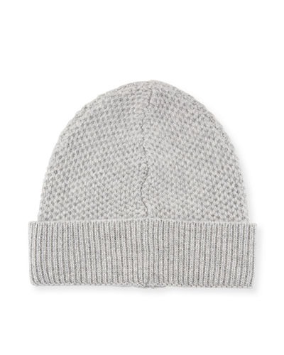 Tuck-Stitched Cuffed Knit Beanie
