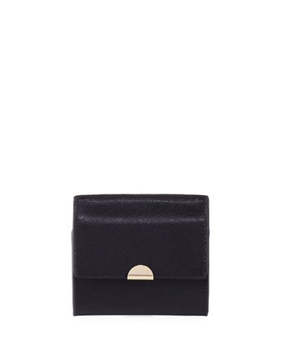 Saffiano Flap Card Coin Pouch