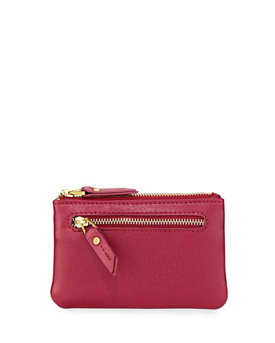 Saffiano Leather Zip Coin Purse