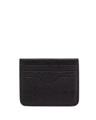 Small Saffiano Flat Card Case