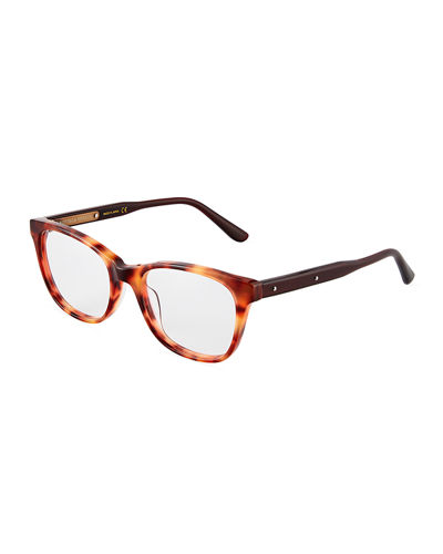 Plastic Square Havana Optical Glasses