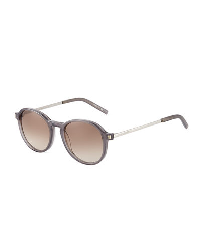 Plastic/Metal Round Sunglasses