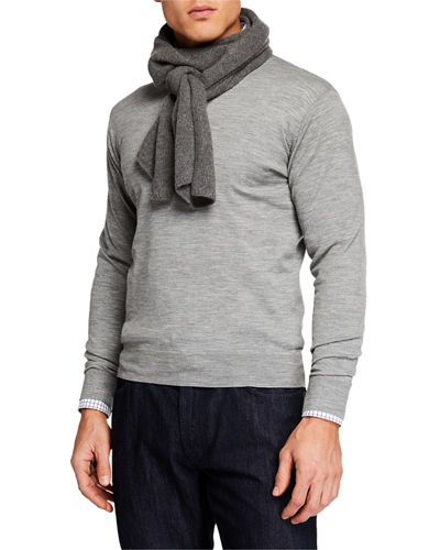Men's Cashmere Knit Scarf