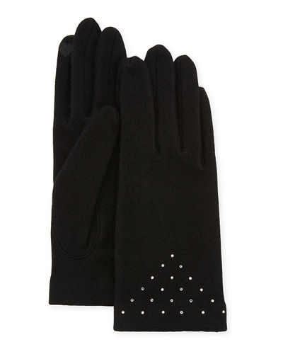Scattered Crystal Smart Gloves