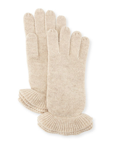 Triple Ruffle Trim Gloves