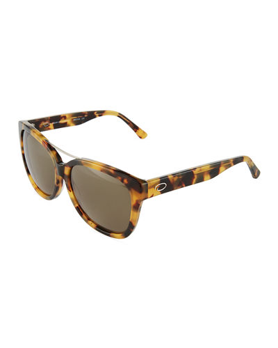 Oversized Rectangle Acetate Sunglasses