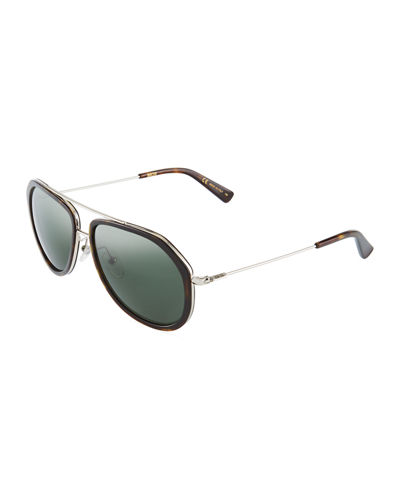 MCM Round Acetate/Metal Sunglasses