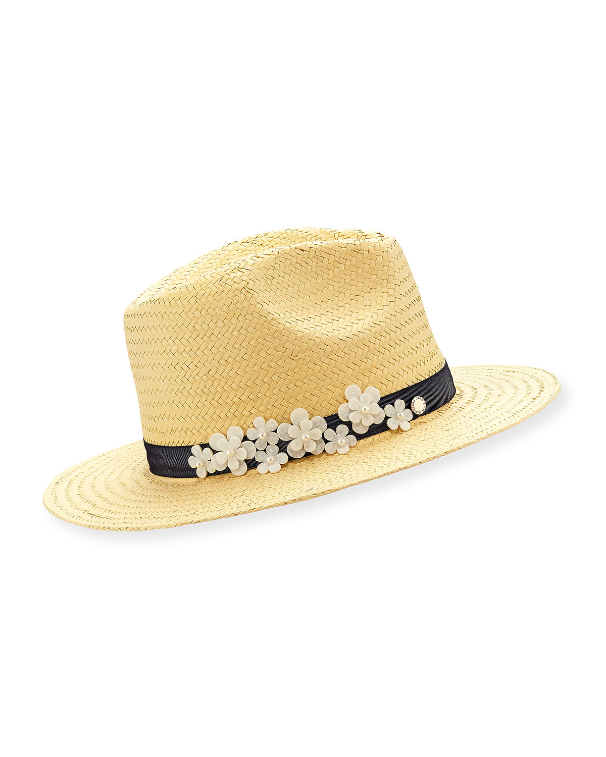 Floral Straw Panama Hat